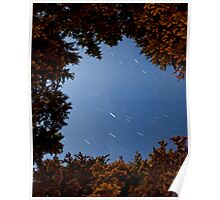 Rolley Lake Star trail Poster