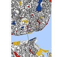 Lisbon Mondrian map Photographic Print
