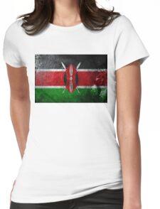 Kenya Grunge Womens Fitted T-Shirt