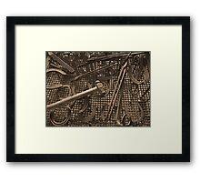 Old Blacksmiths Tool's Framed Print