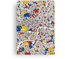 London Mondrian map Canvas Print