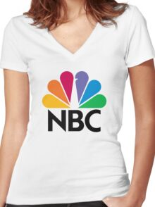 NBC Women's Fitted V-Neck T-Shirt