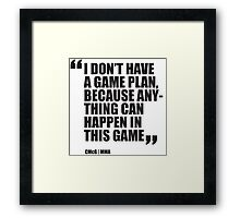 Conor McGregor - Quotes [Game Plan] Framed Print