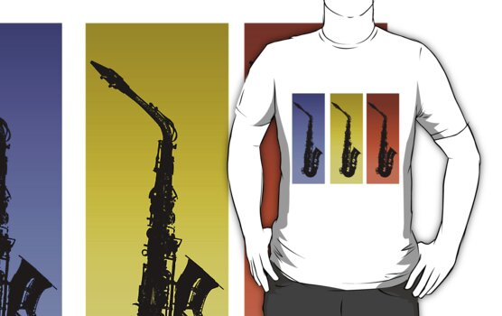 Saxophone T Shirt by simpsonvisuals