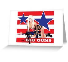 Cammee Lee Big Guns Greeting Card