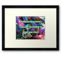 """Feature """"This and That"""" banner challenge Framed Print"""