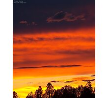 Rooftop Sunset 4 Photographic Print