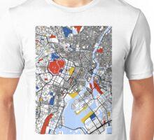 Tokyo Mondrian map Unisex T-Shirt