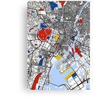 Tokyo Mondrian map Canvas Print