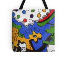 Tea for Two Abstract  Section  Tote Bag