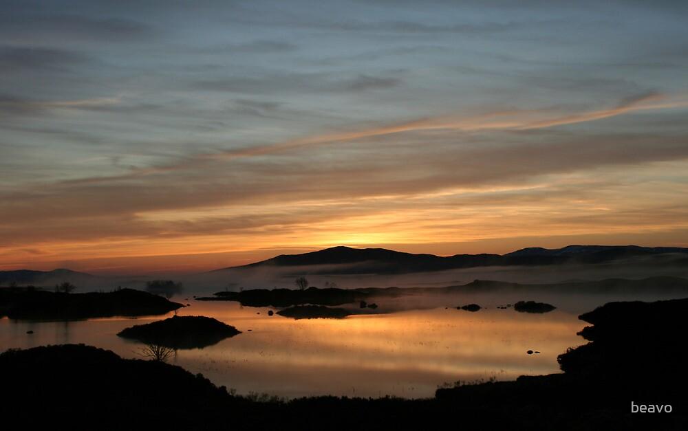 Rannoch sunrise by beavo