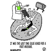 Foot Massage. Photographic Print