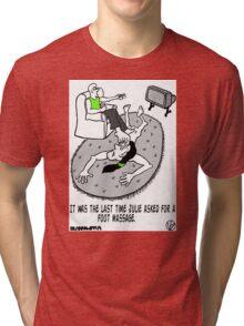 Foot Massage. Tri-blend T-Shirt