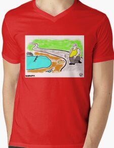Fish Revenge. Mens V-Neck T-Shirt