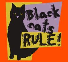 Black cats RULE Kids Clothes