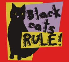Black cats RULE Kids Clothes