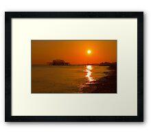 Burnished Sunset - Brighton - England Framed Print