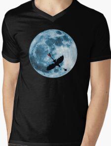 Full Moon Flight Mens V-Neck T-Shirt