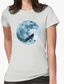 Full Moon Flight Womens Fitted T-Shirt