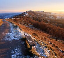 Malvern Hills: A Winter's Afternoon by Angie Latham