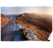 Malvern Hills: A Winter's Afternoon Poster