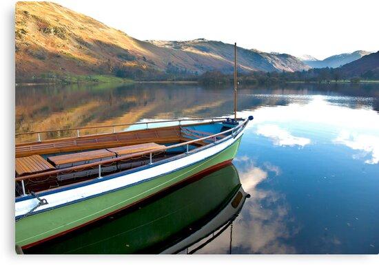 Sailing on Ullswater. by Trevor Kersley