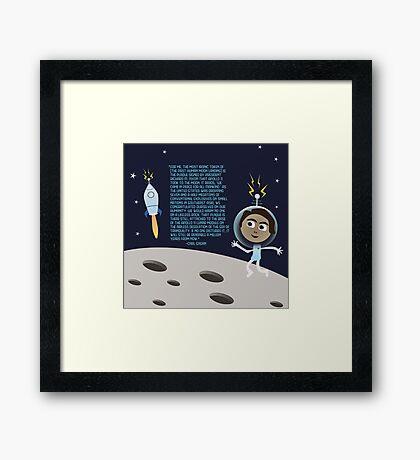 Moon Walk Landscape Framed Print