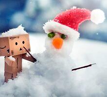 Danbo's First Snowman by Lady-Tori