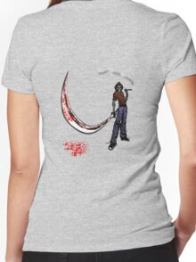 death samurai Women's Fitted V-Neck T-Shirt