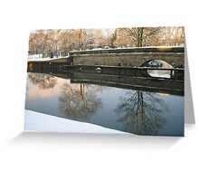 Winter scene by the Trent_3 Greeting Card