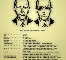 D B Cooper's FBI wanted poster by JSThompson