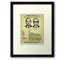 D B Cooper's FBI wanted poster Framed Print
