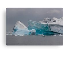 Penguin and ice Canvas Print