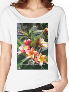 Pink and yellow plumeria Women's Relaxed Fit T-Shirt