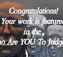 Who Are You To Judge Feature Banner Challenge by plunder