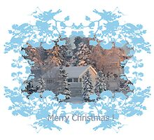 Christmas card - house by julie08