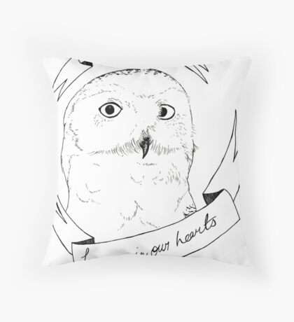 Hedwig, Forever in our Hearts Throw Pillow