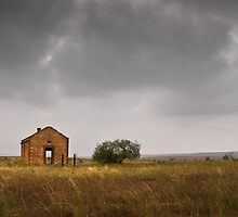 Lonely hut, South Australia by Neville Jones