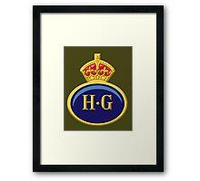 Home Guard Lapel Badge Framed Print