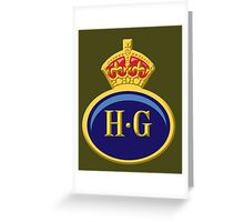 Home Guard Lapel Badge Greeting Card