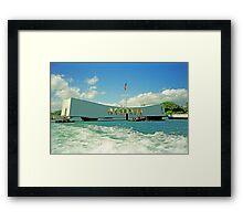 Arizona Memorial, Pearl Harbor, Honolulu, Hawaii Framed Print