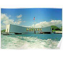 Arizona Memorial, Pearl Harbor, Honolulu, Hawaii Poster