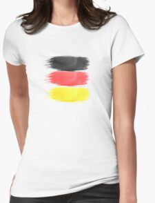Germany Flag paint-brush Womens Fitted T-Shirt