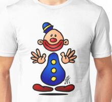 Cheerful circus clown Unisex T-Shirt