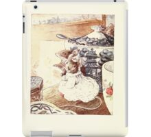 The Tailor of Gloucester Beatrix Potter 1903 0042 Mice in Fine Dress on the Table iPad Case/Skin