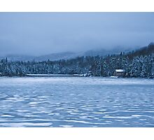 Frozen- A Small Pond Near Rangeley, ME Photographic Print