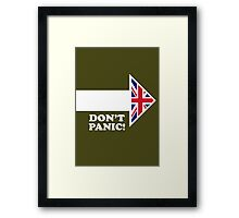 Don't Panic - Arrow Framed Print