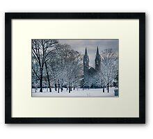 Bowdoin Campus in the Snow Framed Print