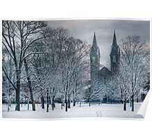 Bowdoin Campus in the Snow Poster