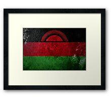 Malawi Grunge Framed Print